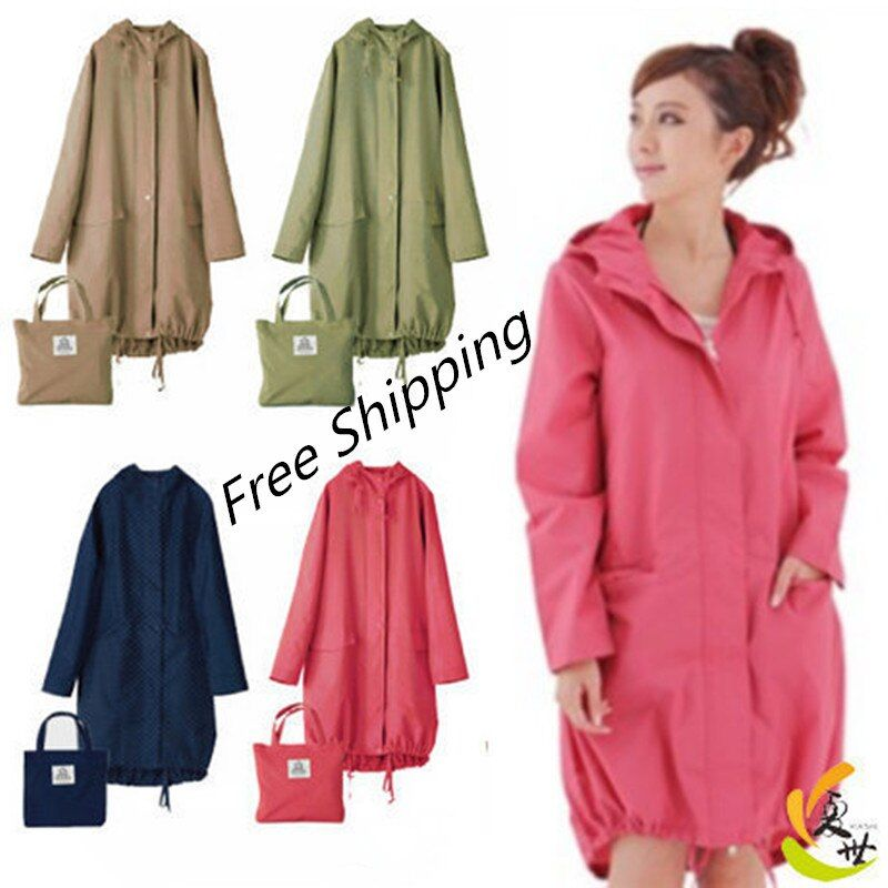 Long Thin Raincoat Women Waterproof hood Light Rain Coat Ponchos Jackets cloak Female Chubasqueros Impermeables <font><b>Mujer</b></font>