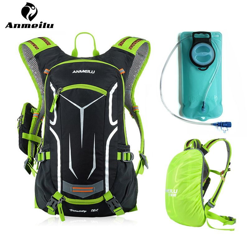 ANMEILU Sport 2L Water Bladder 18L Cycling Waterproof Hydration Backpack Men Women Camping Climbing Water Bag Mochila Ciclismo