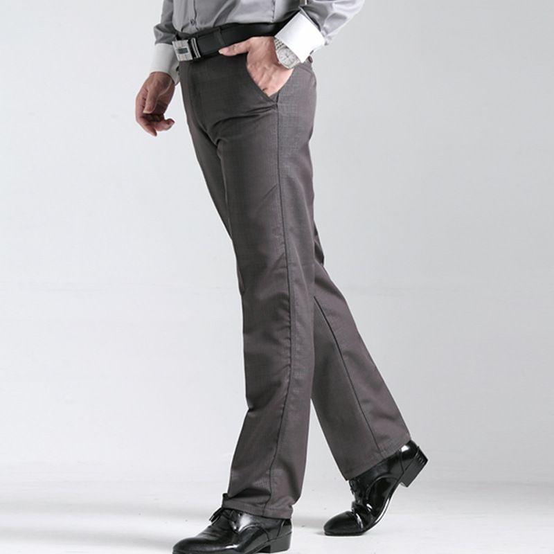 Для мужчин нового фонда 2018 осень-зима для отдыха высота Штаны прямо канистра Кам решетки утолщение мужские штаны