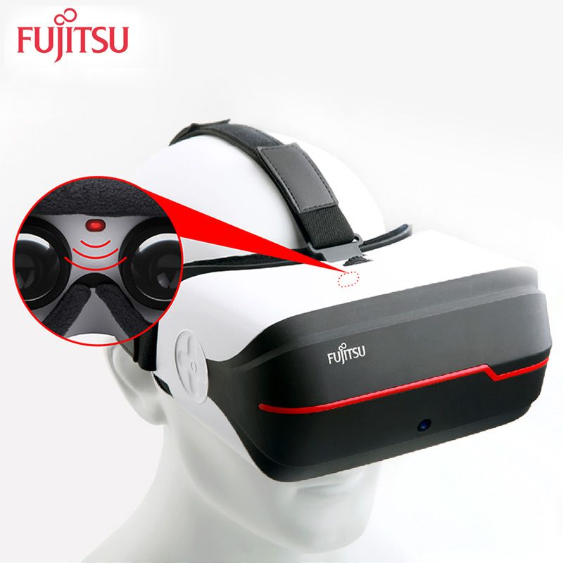 Fujitsu FV200 Original 3D VR Virtual Glasses all-in-one own system 2K 16GB wifi /Bluetooth for games or cinema