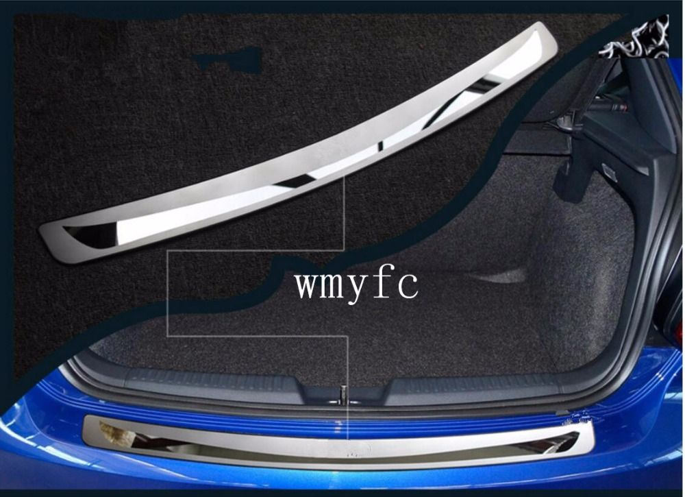 Stainless Steel Rear Bumper Protector Guard Plate Trim Fit For VW Volkswagen Golf 6 Mk6 Golf 7 MK7 2009 -2017