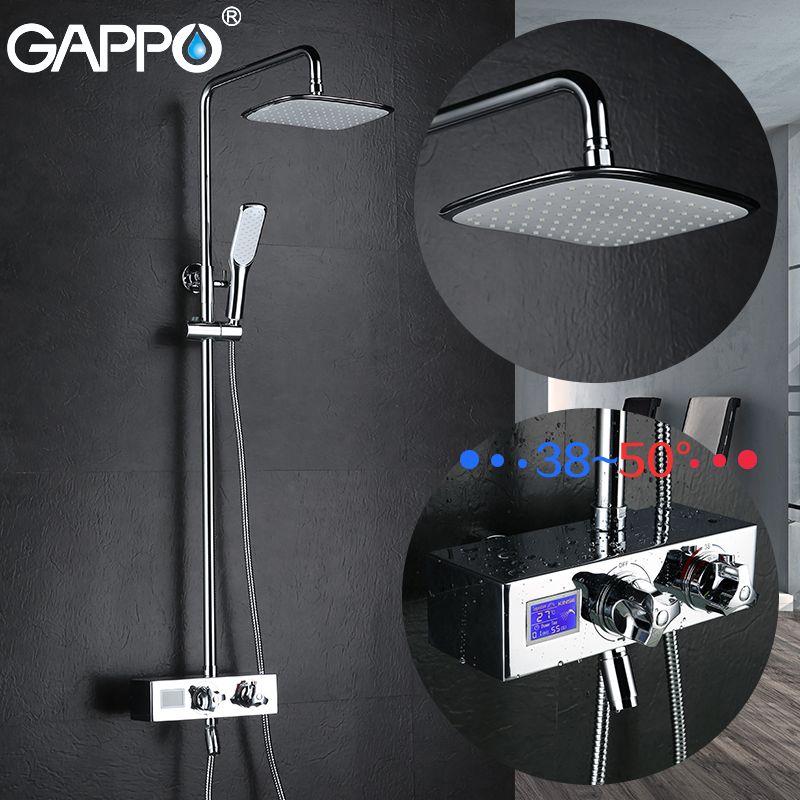 GAPPO bathtub faucet bath shower taps thermostatic faucet waterfall brass bath faucet mixer waterfall water mixer tap griferia
