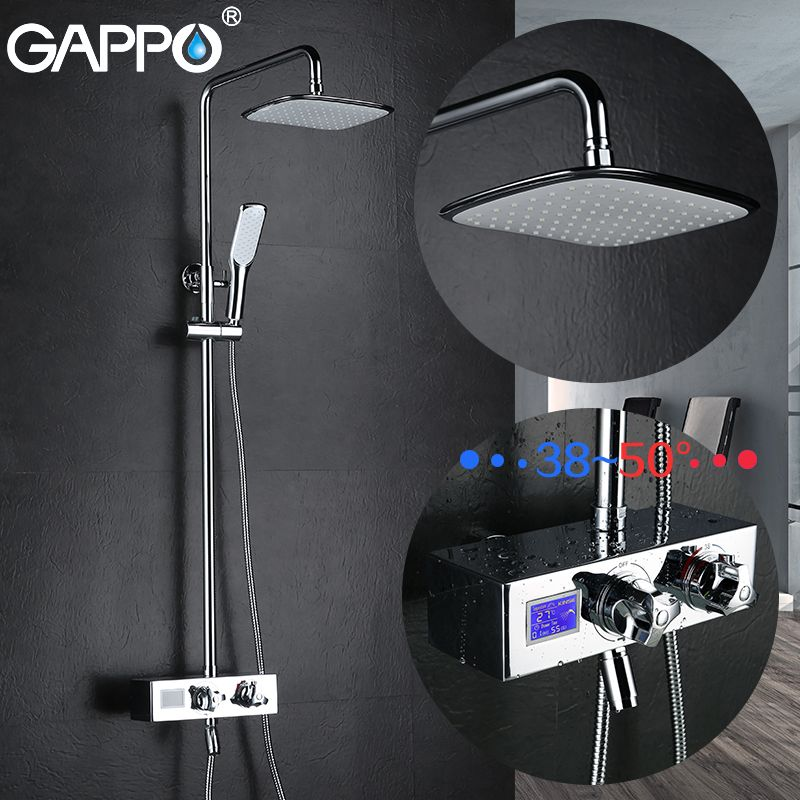 GAPPO bathtub faucet bath shower taps thermostatic faucet waterfall brass bath faucet mixer waterfall water mixer tap griferia