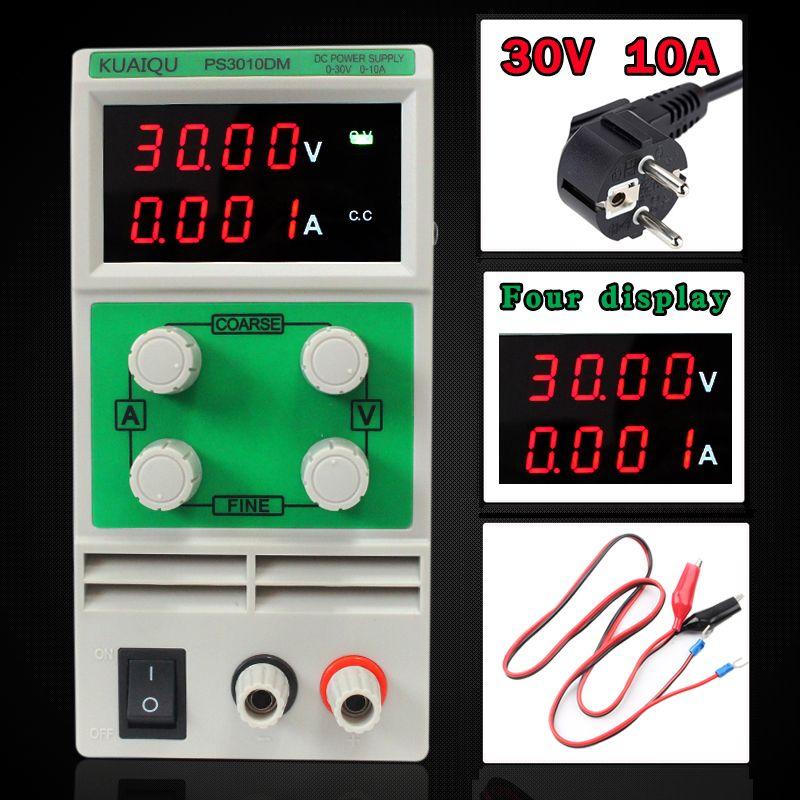 30 В 5A мини Регулируемый DC Питание, лаборатории Питание, цифровой переменной Напряжение регулятор 30 В 10A четыре дисплея PS3010DM