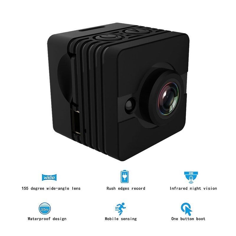 SQ12 Mini Kamera Full HD 1080 P Camcorder Auto DVR 12MP Sport DV Kamera