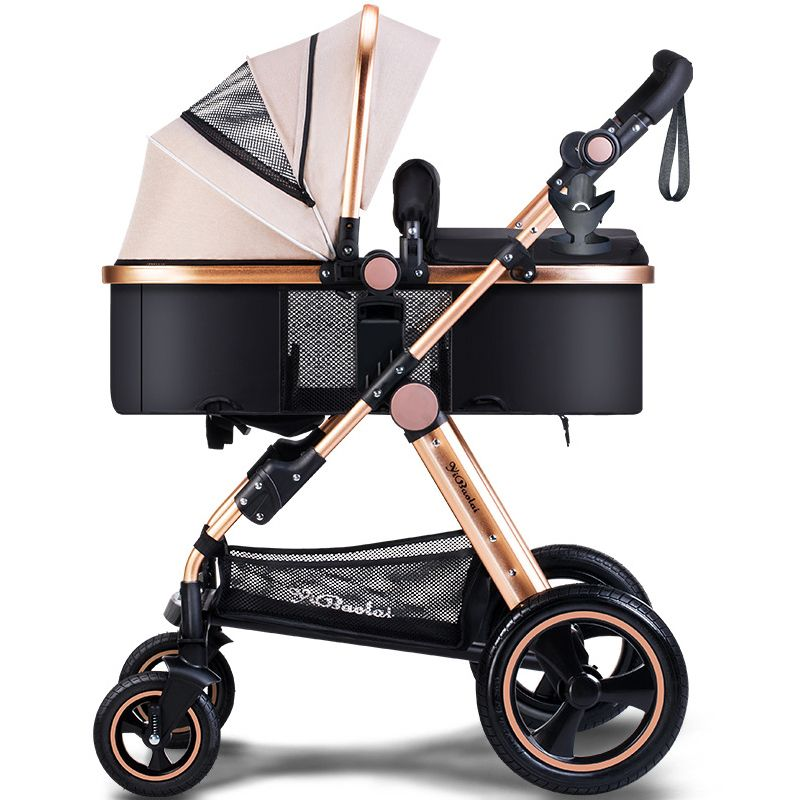 Newborn Baby strollers 2 in 1 aluminum alloy children carriage baby pram with foot cover