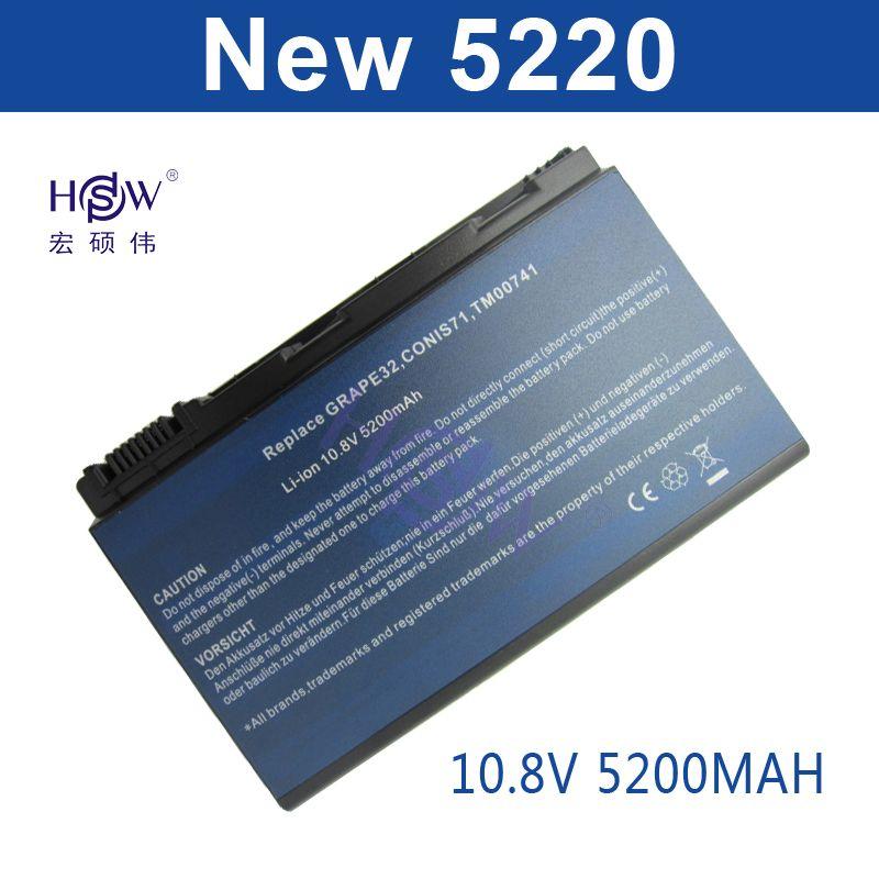 HSW 6cells Battery For Acer Extensa 5210 5220 5235 5420G 5620G 5620Z 5630 5630G 5635 5635G 5635Z 7220 7620 7620G GRAPE32 GRAPE34