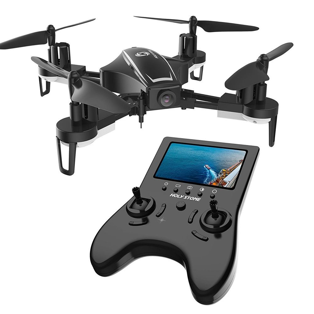 Holy Stone HS230 RC Drone Racing FPV HD Camera Quadcopter 45Km/h High Speed Wind Resistance LCD Real Time Transmitter Aircraft