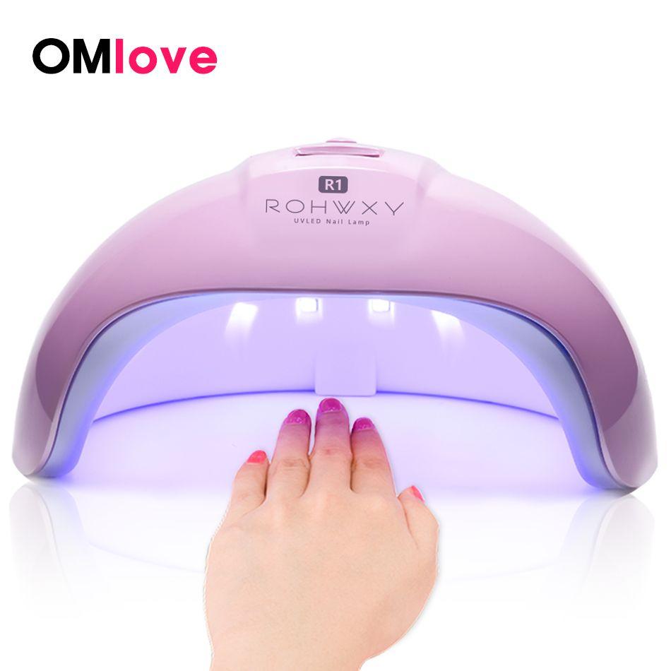 OMlove 36 W UV lampe lampe LED pour ongles sèche-ongles pour tous les Gels vernis soleil lumière lampe infrarouge détection minuterie Smart LCD affichage manucure