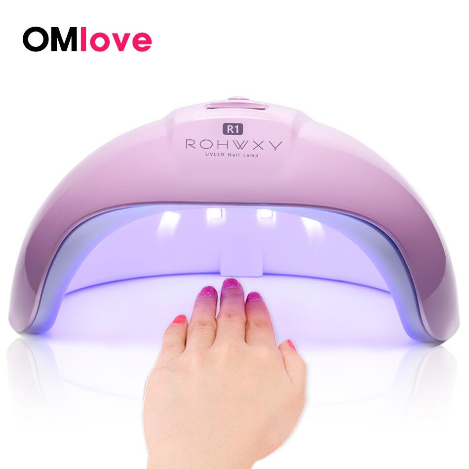 OMlove 36W UV Lamp LED Nail Lamp Nail Dryer For All Gels Polish Sun Light Lamp Infrared Sensing Timer Smart LCD Display Manicure
