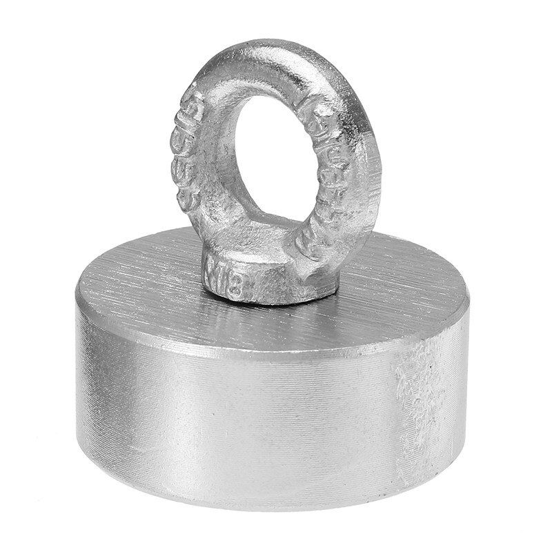 60x25mm 300kg Neodymium Recovery Magnet Metal Detector with Handle Ringscrew High Quality Powerful New
