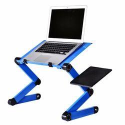 Aleación de aluminio Mesa portátil plegable portátil escritorio de la computadora estudiantes dormitorio portátil Ordenador de mesa bandeja de cama del soporte