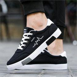 Nuevo 2018 Primavera Verano lona Zapatos hombres sneakers top negro low Zapatos Calzado casual de hombre marca moda sneakers