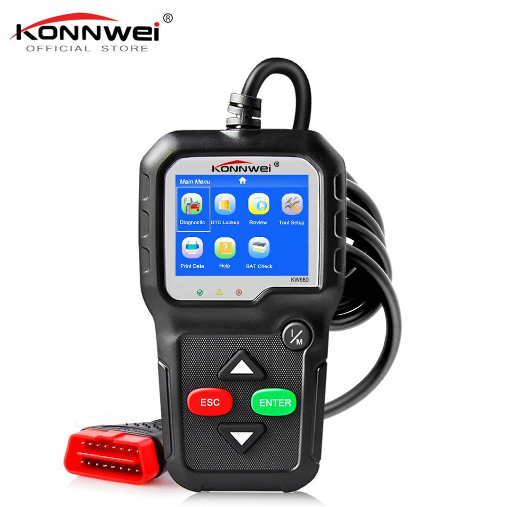 OBD2 Scanner OBD Car Diagnostic Auto Diagnostic-Tool KONNWEI KW680 Read Clear Fault Error Codes Russian OBD2 Automotive Scanner