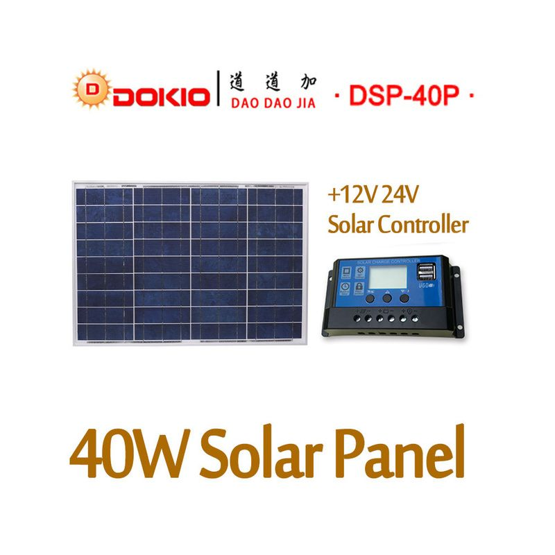 DOKIO 18V 40W Polycrystalline Solar Panel 460*660*<font><b>25mm</b></font> Silicon Power Painel Top Quality Solar Battery china Solar Fotovoltaico