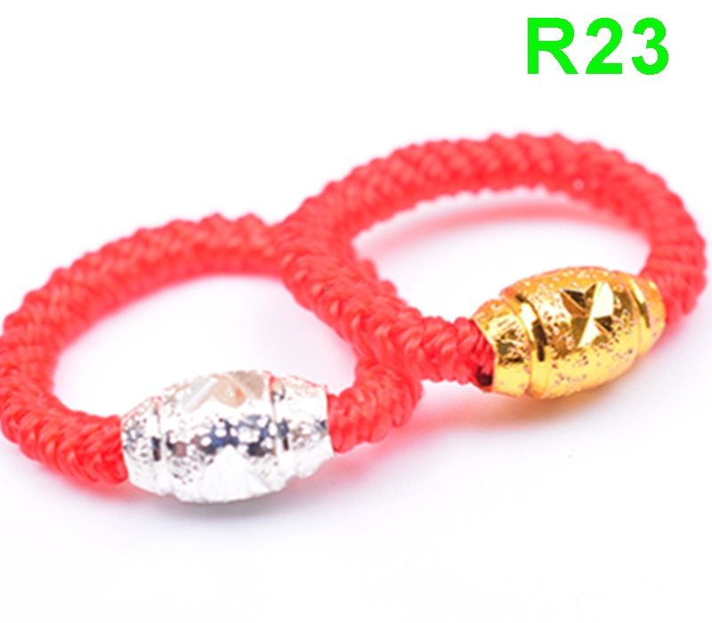 ZTUNG new arrivals jewelry R Classic silver Red rope R23 ring for women and men gift jewelry
