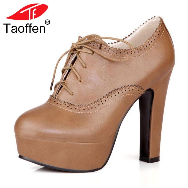 TAOFFEN plus big size 34-47 women stiletto high heel shoes sexy lady platform spring fashion heeled pumps heels shoes P16740