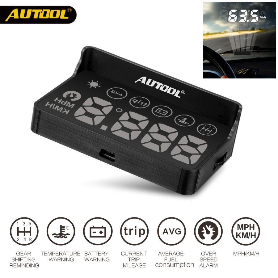 AUTOOL X30 HUD OBD 2 Head UP Display Car GPS Speedometer Headup OBD2 Projector Headup Smart Digital Auto Universal Display Meter
