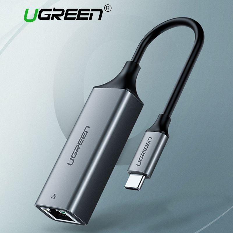 Ugreen USB C Ethernet USB-C vers RJ45 adaptateur Lan pour MacBook Pro Samsung Galaxy S9/S8/Note 9 Type C carte réseau USB Ethernet