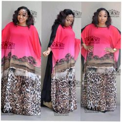 2018 (L-XXXL) New Fashion Chiffon Super Size African Loose Long Dashiki Traditional Dress For Lady