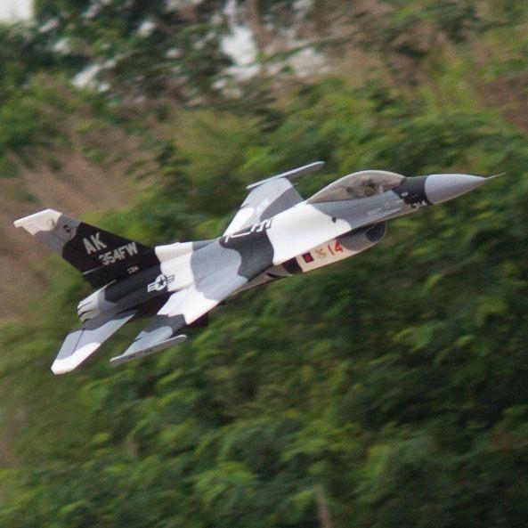 RC flugzeug EDF jet Neue Freewing Flightline F16 F-16 70mm schwarz camo flugzeug modell 6 S PNP