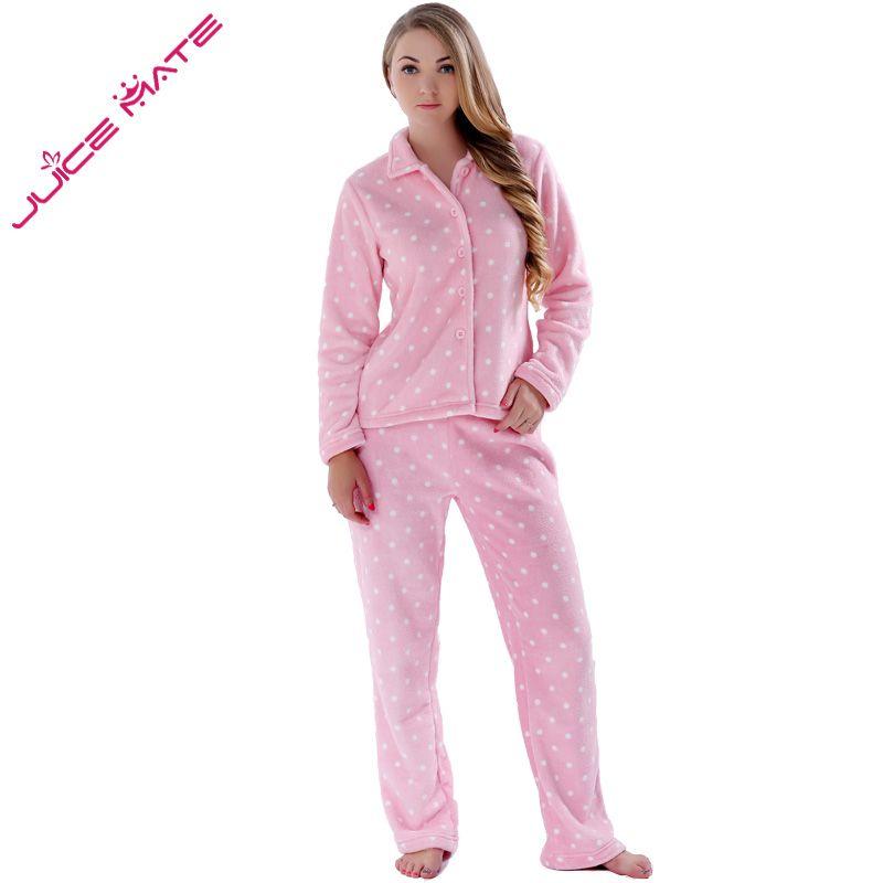 Automne Hiver Chaud Pyjamas Femmes vêtements de Nuit des Femmes Polaire Pyjamas Ensembles Plus La Taille Domicile Costumes Sommeil Salon Pyjamas Pour Femmes Adultes