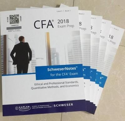 2018 CFA Level II Schweser Study Notes 2018 CFA Level II Praxis-prüfungen V1/V2 Formel Liste
