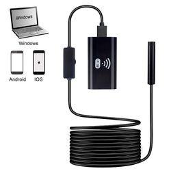 Wi-Fi эндоскоп Камера HD720P 8 мм 1 M 1,5 m 2 M 3,5 M 5 M мягкий жесткий кабель Водонепроницаемый Iphone Android беспроводной автоинспекции бороскоп