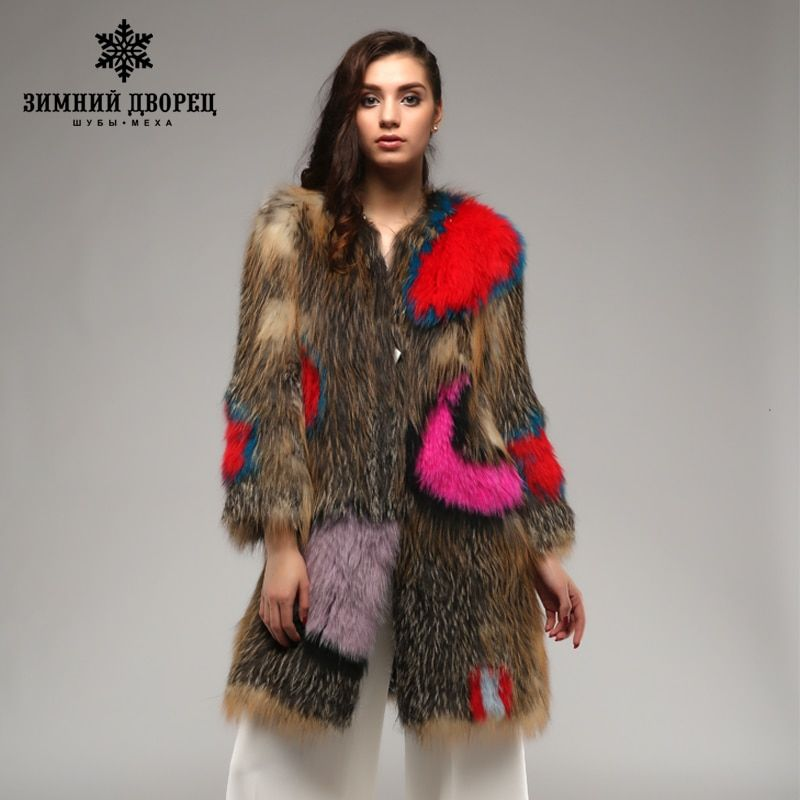 Winter palace Super star fox coat . multicolor Genuine Leather Knitted fur fox coat,Fashion Slim Fur Winter fox coat women
