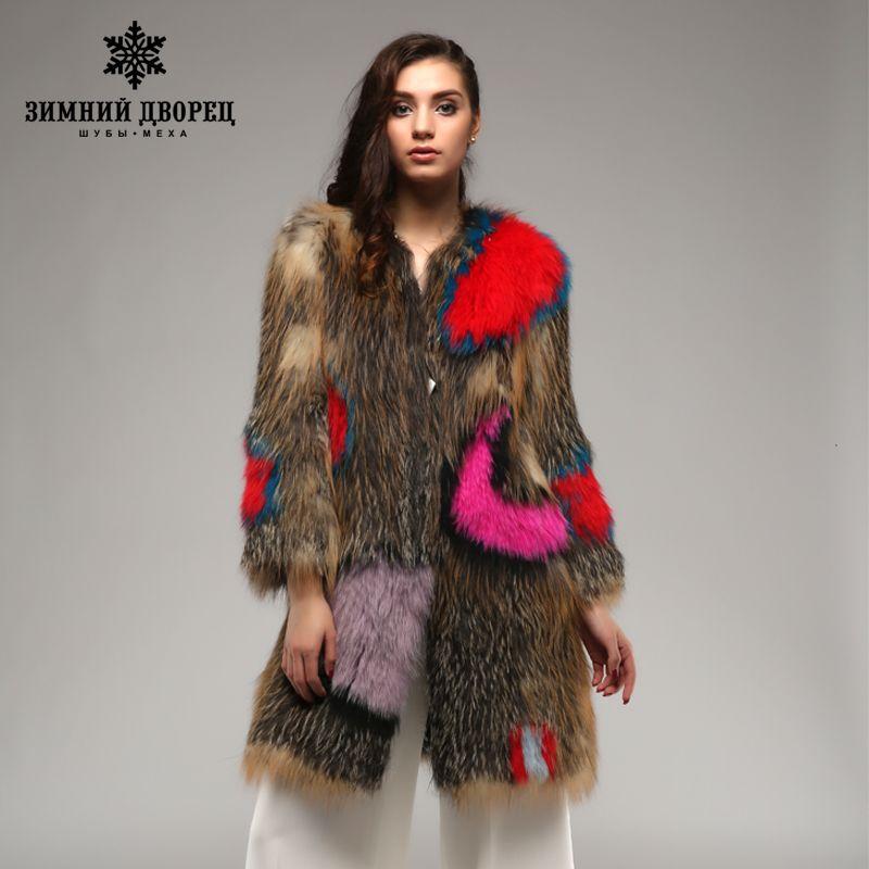 Winter palace Super star fox coat . multicolor Genuine Leather Knitted fur fox coat,Fashion Slim Fur Winter fox coat women