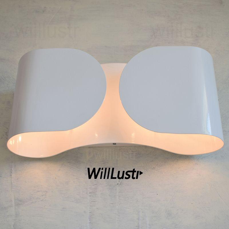 Willlustr Wall Lamp Modern wall light Bow design Wall sconce Iron wall lighting bowknot white chrome silver gray novelty lights