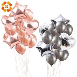 14 unids 12 pulgadas 18 pulgadas Multi aire globos Feliz cumpleaños fiesta globo de helio decoraciones Festival Balon fuentes del partido