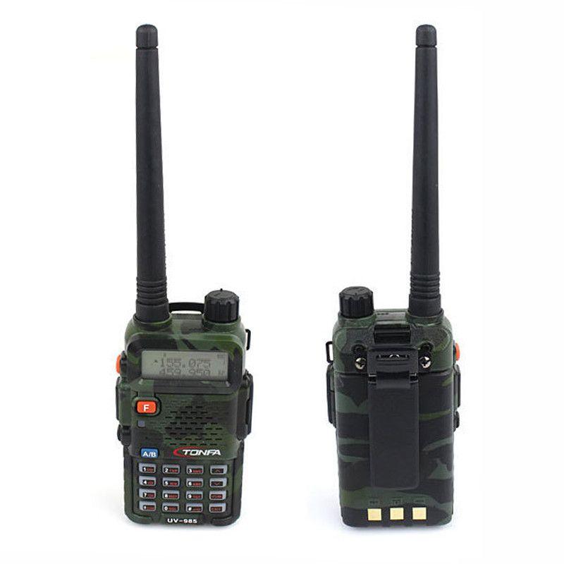 Camuflaje Original Radio Walkie Talkie TONFA UV-985 de Doble Banda 8 W VHF y UHF FM VOX DTMF ANI-ID CB Dos forma de Radio