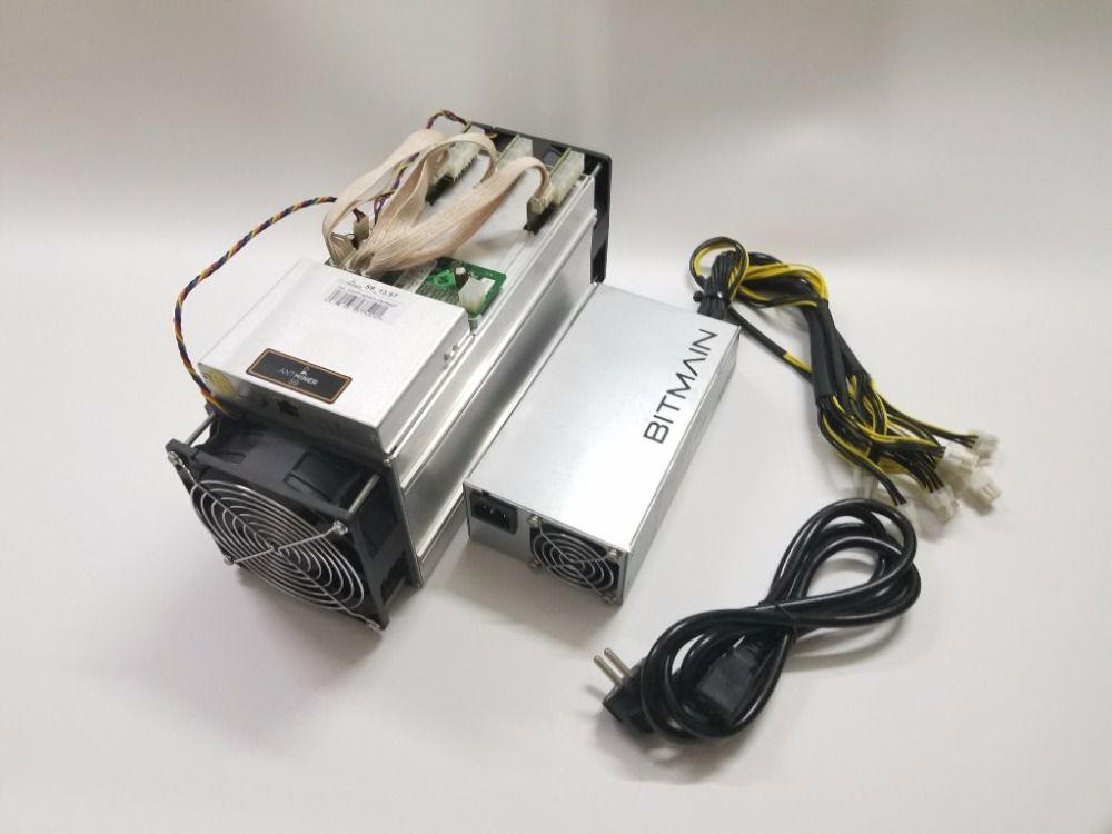 Verwendet AntMiner S9 13,5 T Mit BITMAIN APW3 + + 1600W Netzteil Asic Bitecoin BTC BCH Miner Besser Als whatsMiner M3