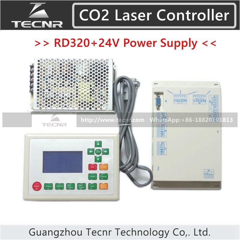 RD320 CO2 Laser Steuerung und Meanwell 24 V 3.2A 75 Watt Schaltnetzteil RUIDA RDLC320/RDLC320-A
