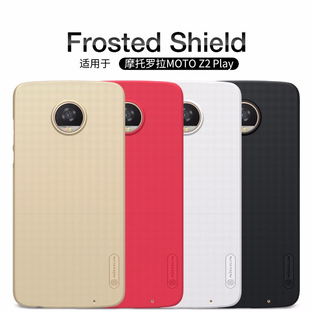 For Motorola MOTO Z2 Play case NILLKIN Super Frosted Shield matte hard back cover MOTO Z2 Play case with free screen protector