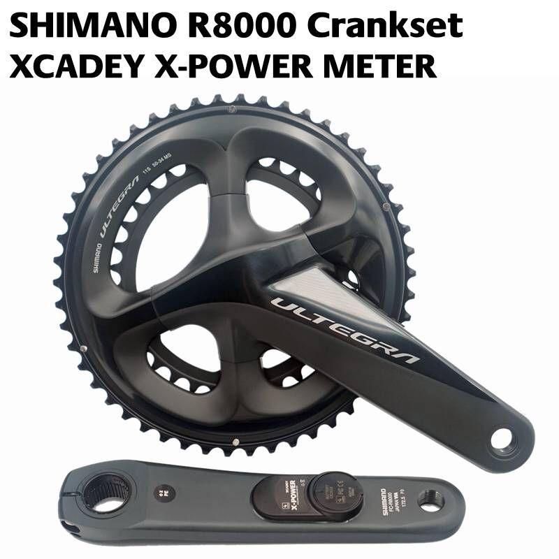 2018 Newest SHIMANO ULTEGRA R8000 POWER Crankset XCADEY X-POWER METER Crank 170mm 172.5mm Crankset 52-36T 50-34T 53-39T