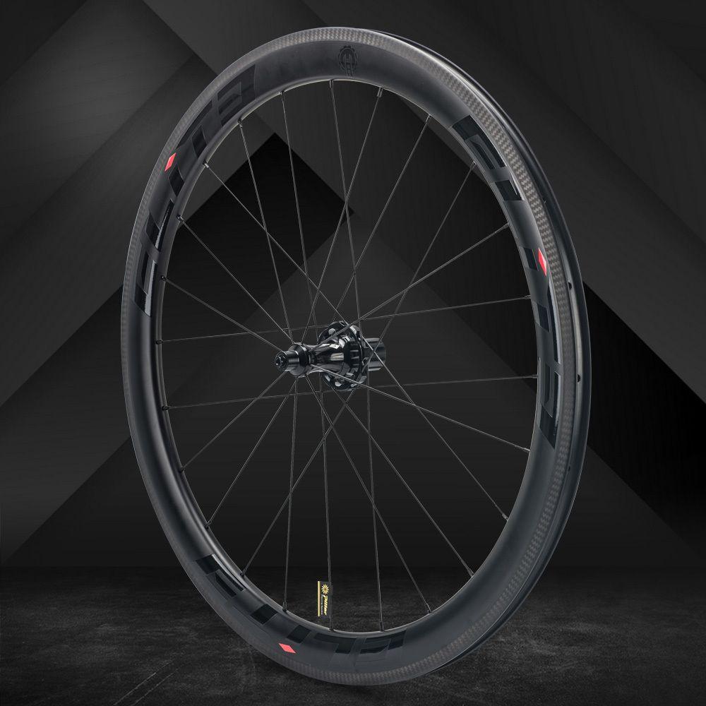 Elite SLR Carbon-rennrad Rad Gerade Pull Niedrigen Widerstand Keramik Hub 25/27mm Breiter Tubular Drahtreifen Schlauchlose 700c Laufradsatz