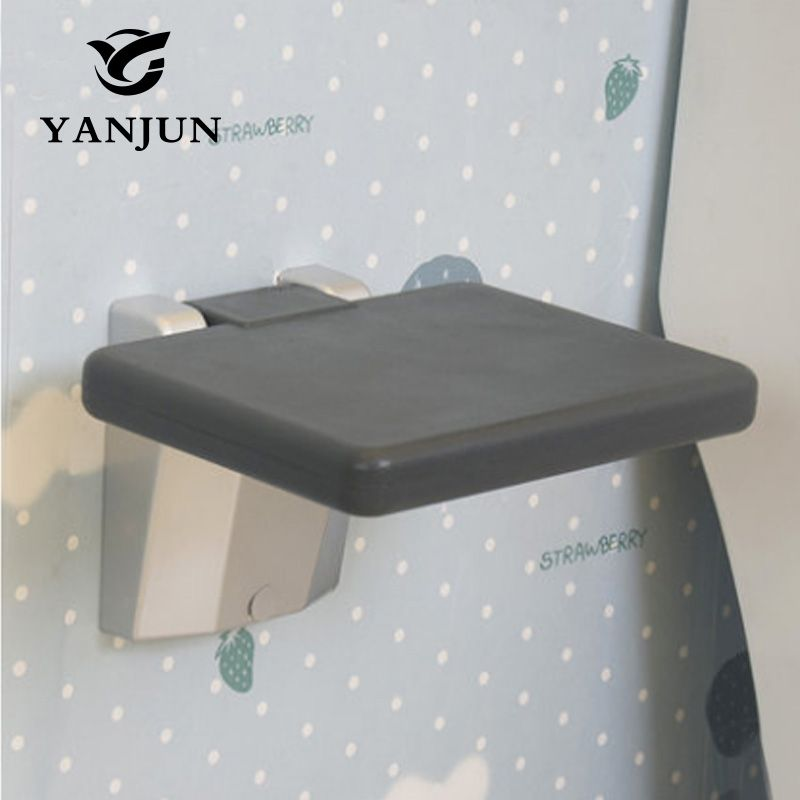 YANJUN Folding Wall Shower Seat Wall Mounted Relaxation Shower Chair Solid Seat Spa Bench Saving Space Bathroom YJ-2039