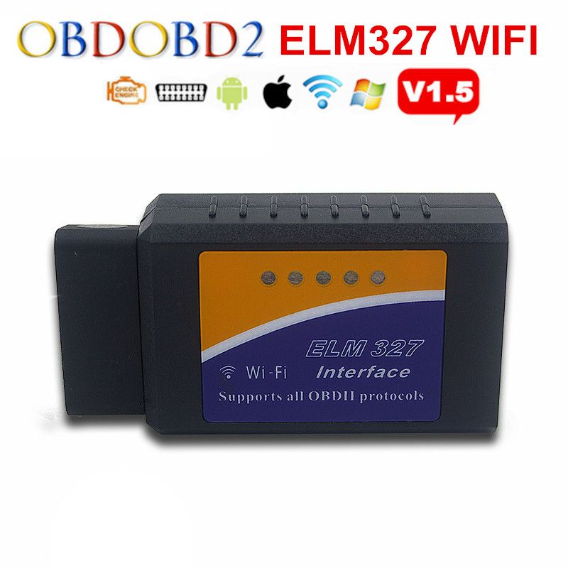 ELM327 WIFI/Bluetooth/USB HW V1.5 ELM 327 For Android Torque/PC Support All OBDII Protocols Wireless 12 Languages Free Ship