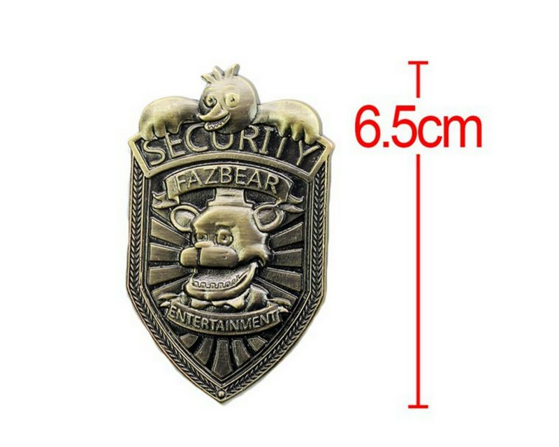 Hot Sale Cosplay Five Nights At Freddy's Vintage Freddy Security Badge Pin FNAF