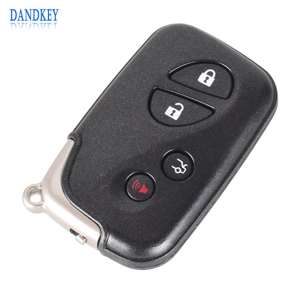 Dandkey Replacement Remote Case Shell Fob Car Key Cover 4 Button For Lexus GS430 ES350 GS350 LX570 IS350 RX350 IS250