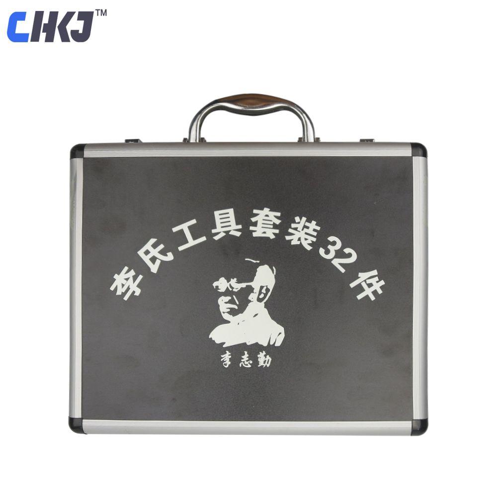 CHKJ 32 teile/satz Original 2 in 1 Lishi Werkzeug Reparatur Werkzeug mit 1 Cutter für Auto Lock