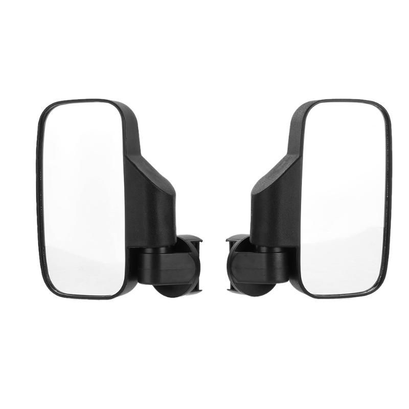 One Pair High Impact Large Wide View Left Right Side View Mirrors for UTV Offroad Vehicles with Installing Accessories