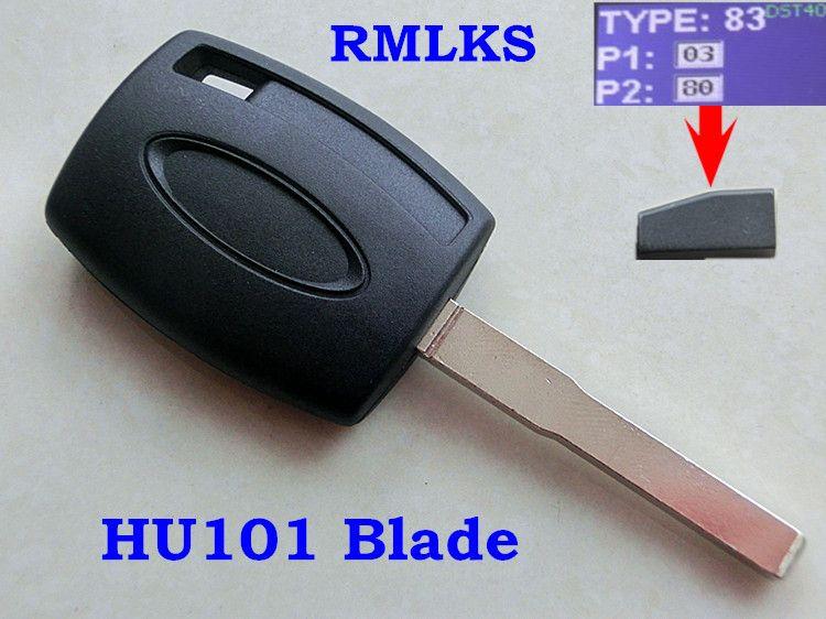 Rmlks НОВЫЙ UNCUT ЗАМЕНА 4D63 80bit транспондера зажигания Ключи подходит для фокусировки id83 чипа ключ с HU101 лезвие