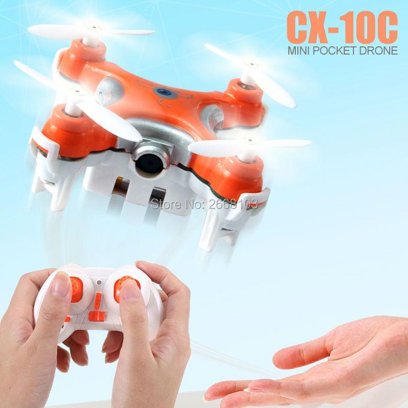 D'origine Cheerson CX-10C Quad Copter Droni Poche Drone Quadrocopter CX10C Mini Quadcopter Dron Avec Caméra RC Hélicoptère VS H20