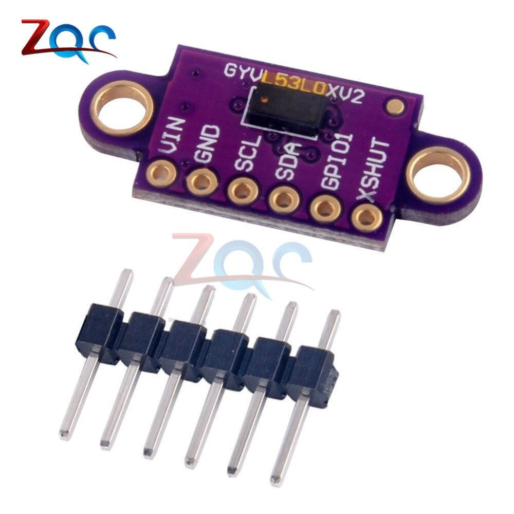 VL53L0X tiempo de vuelo (ToF) láser que van sensor 940nm GY-VL53L0XV2 Módulo de distancia láser I2C IIC