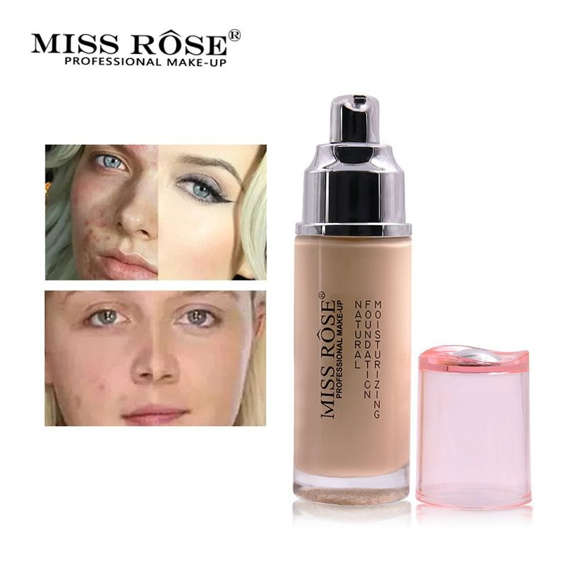Miss Rose Face Makeup Base Face Liquid Foundation Acne Cream Concealer Moisturizer Primer Beauty Cosmetics