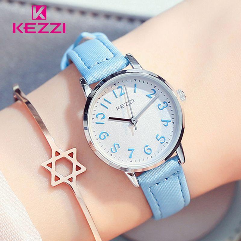KEZZI Kids Watches Top Brand Waterproof Children Watches Quartz Leather Wristwatches for Girls Boys Kids Girl Watch Hot Sale