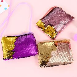 Mujeres monedero sequines Cambio de bolsillo monedero para las muchachas square organizador bolsa auricular portátil lindo niños cremallera bolsos monedero